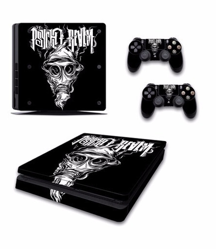 skin ps4 slim pshyco realm consola+2 skins controles person
