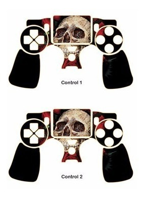 skin ps4 slim skulls (1) consola+2 skins controles