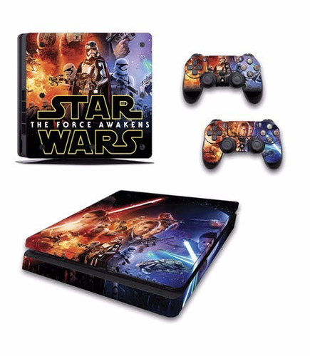 skin ps4 slim star wars (4) consola+2 skins controles