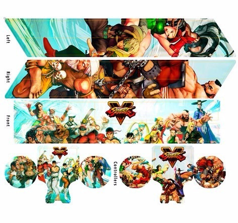 skin ps4 street fighter (3) consola+2 skins controles