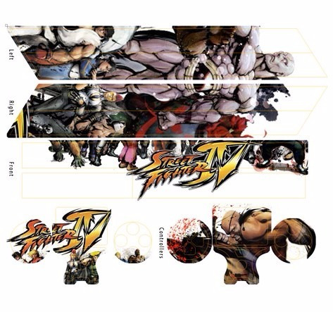 skin ps4 street fighter (6) consola+2 skins controles