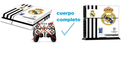 skin ps4 total consola + 2 controles