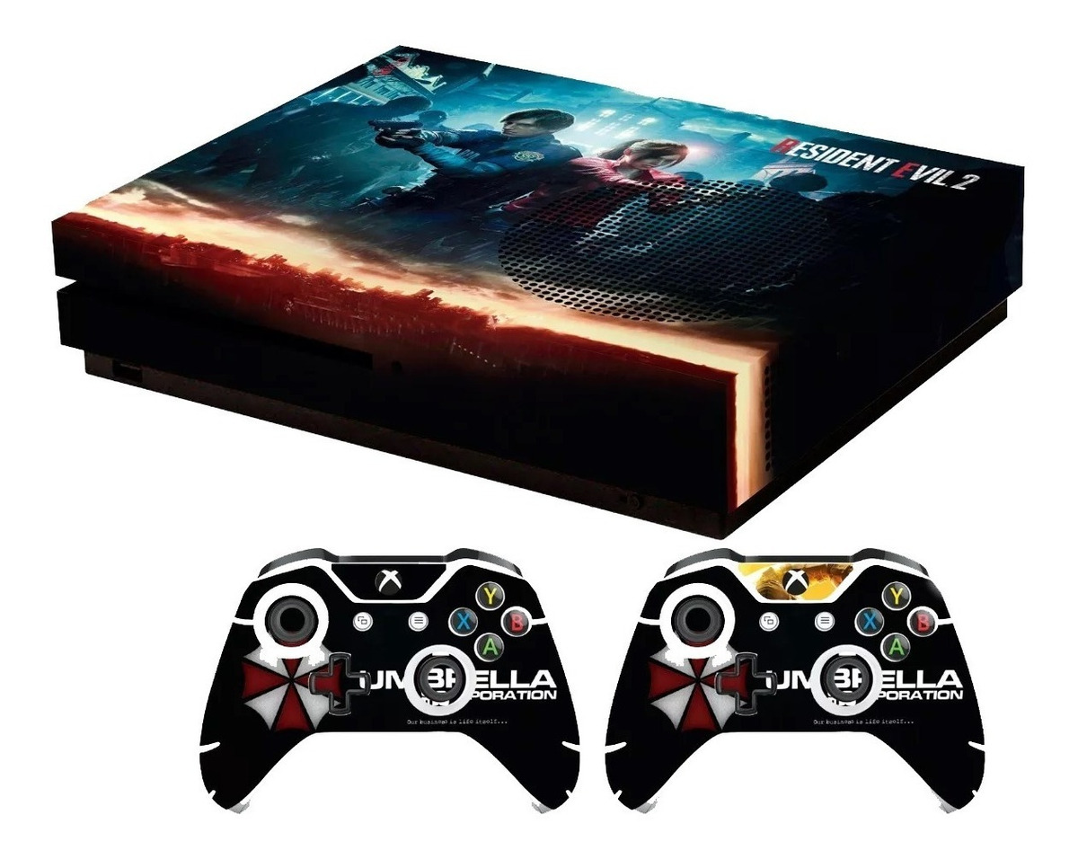 Skin Resident Evil 2 Remake Leon Claire Xbox One S Stickers