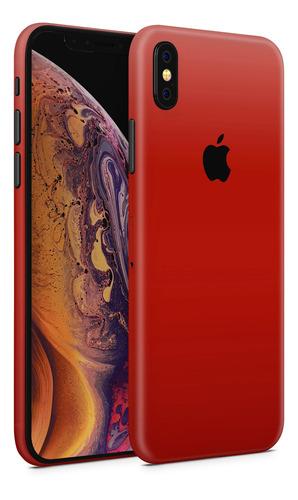 skin rojo mate para telefonos apple iphone