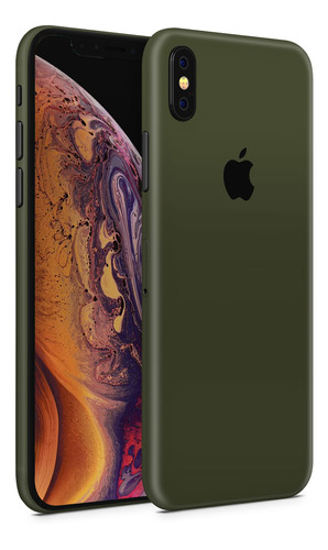 skin verde militar para telefonos apple iphone