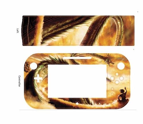 skin wii dragon ball consola+1 skin gamepad personalizado