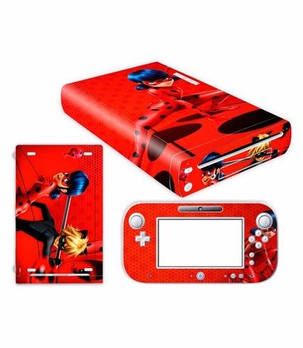 skin wii u prodigiosas (1) consola+1 skin gamepad personaliz