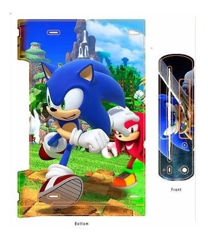 skin wii u sonic consola+1 skin gamepad personalizado