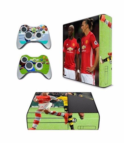 skin xbox 360 e football consola+2 skins controles personali