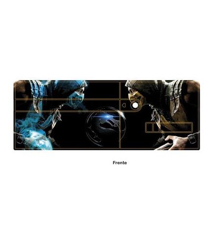 skin xbox 360 e mortal kombat (62) consola+2 skins controles