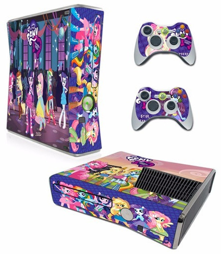 skin xbox 360 my little pony consola+2 skins controles