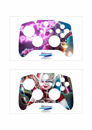 skin xbox one harley quinn (1) consola+2 skins controles