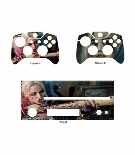 skin xbox one harley quinn (2) consola+2 skins controles