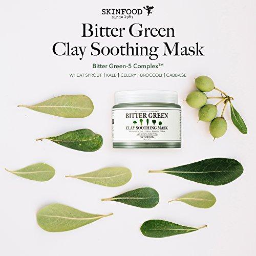 skinfood bitter green máscara facial de arcilla calmante,