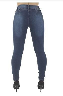 skinny jean dama cintura alta levanta cola colombiano