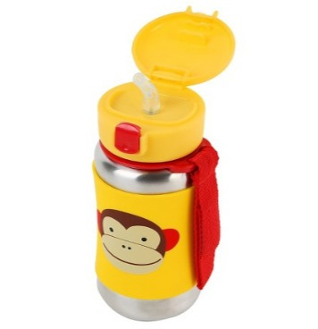 skip hop zoo monkey termo de acero inoxidable niños niñas