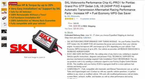 skl motorworks kl-pro1 modulo para vehiculos