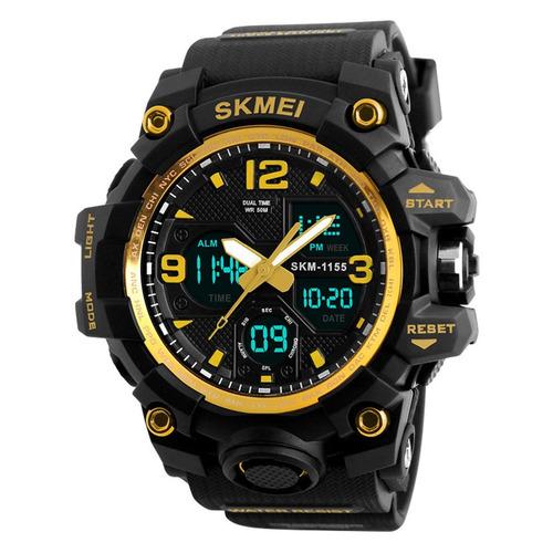skmei 1155 1155b esporte ao ar livre relógio pu silicone cin