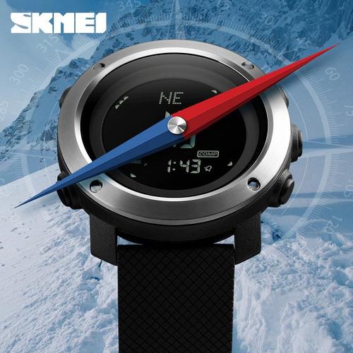skmei altímetro barômetro bússola temperatura o melhor preço