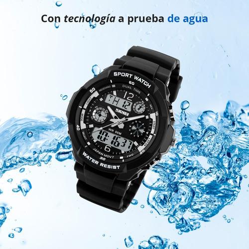 skmei reloj deportivo para niño contra agua hora fecha 1060