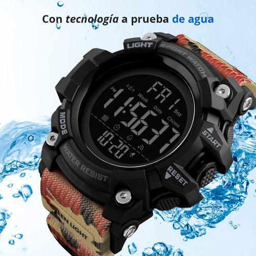 skmei reloj deportivo y militar led fecha contra agua 1384