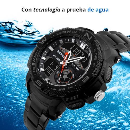 skmei reloj digital análogo militar led contra agua 1121