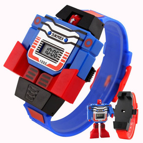 Moda Robot Regalo Infantil Led Juguete Skmei Reloj Niños sQtdChrx