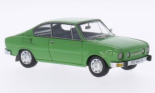 skoda 110 r, verde, 1972, modelo de coche, ya hecha, neo 01