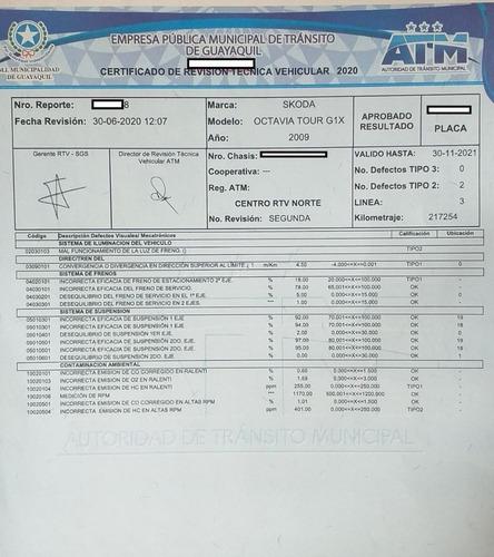 skoda octavia tour 1.6v full equipo matr. 2020 atm gquil