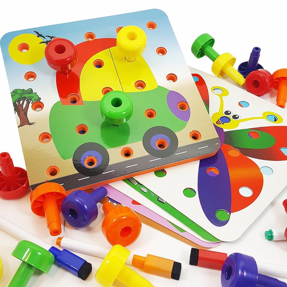 Skoolzy Juguetes Educativos Para Niños Pequeños | Peg Board ...