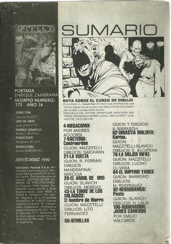 skorpio: el mundo de la gran historieta n° 173__nov. 1990