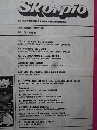 skorpio n° 106 octubre de 1984 excelente estado