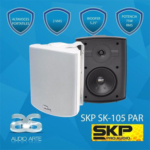 skp sk-105 par, altavoces portatiles, 2 vias, 75w rms