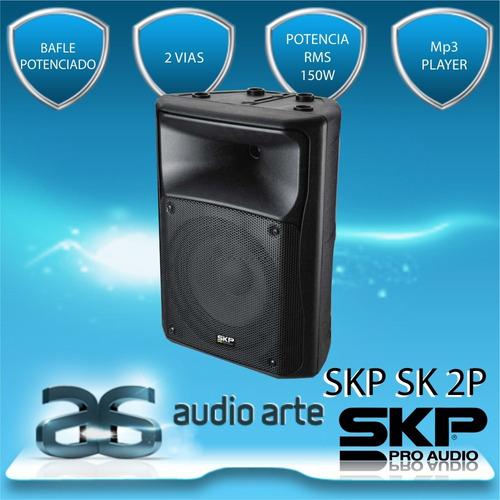 skp sk-2p - bafle potenciado, 2 vias, 150w rms_22