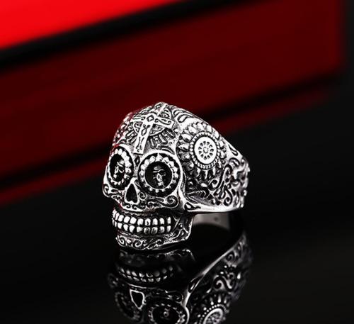 skull craneo calavera anillo acero inoxidable #9 br8-327