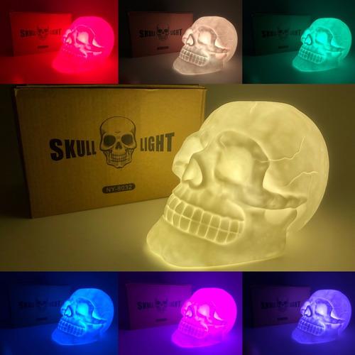 skull light lampara calavera cambia de colores!