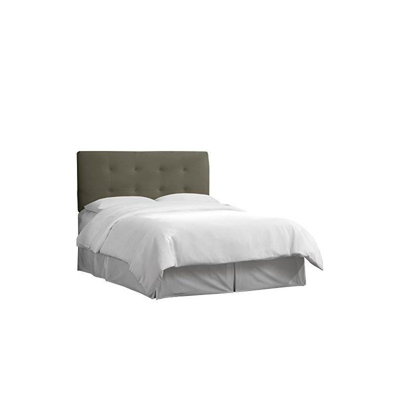Skyline Furniture Pewter Velvet Copetudo Cabecero King - $ 21,664.13 ...