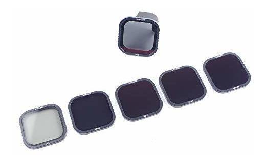 CPL//ND8//ND16//ND32//ND64//ND1000 Skyreat ND Filters for GoPro Hero 8 Black 6 Pack ,with HotSwap Magnetic Filter Base