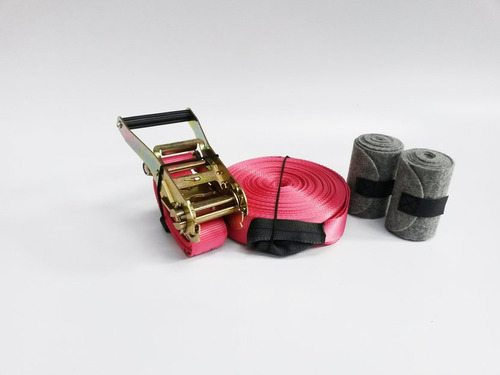 slackline avançado 20m rosa - spin slackline