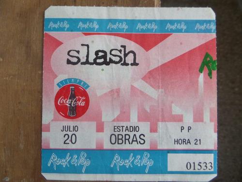slash entrada estadio obras argentina (1995)
