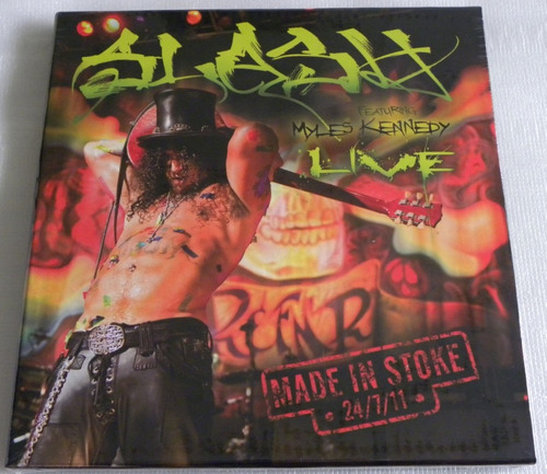 slash made in stoke 3 lp box red  yellow  white guns n roses