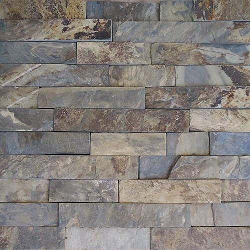 Slate piedra laja verde mixteca 5x liston cascada - Piedra pizarra oxidada ...