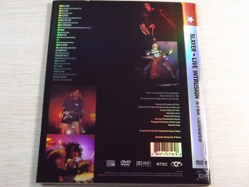 slayer live intrusion 95 thrash(ex+/ex+)dvd import***