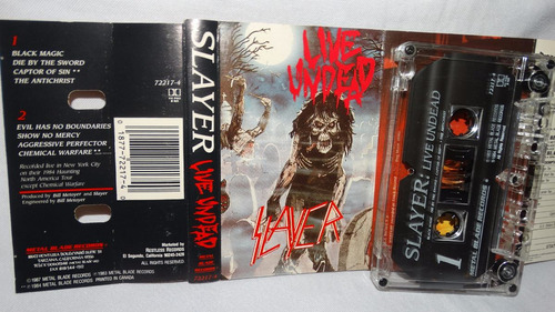 slayer ¿ live undead (metal blade records 72217-4) (carcasa: