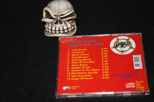 slayer  slaytanic comeback   raro cd !!!!