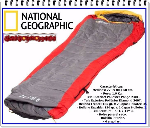 sleeping bag national geographic -5c y obsequio coleman fox