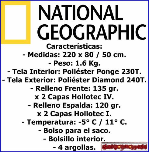 sleeping bag national geographic -5c y obsequio coleman fox