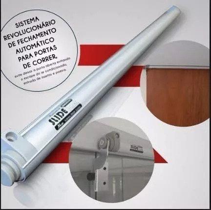 slide-back mola 90 cm para portas de correr grande cor cinza