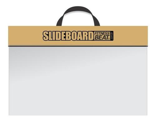 slide board + líquido deslizante + sapatilha + dvd + flanela