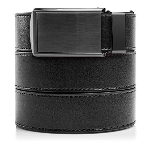 slidebelts cinturón de cuero sin agujeros para los hombres -